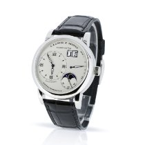 A. Lange & Söhne Lange 1 Platinum 38.5mm Silver Roman numerals