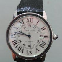 Cartier Ronde Solo de Cartier Acier 42mm Blanc Romains