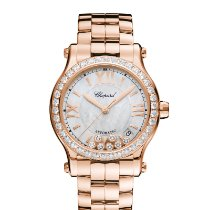 Chopard 274808-5007 Rose gold Happy Sport 36mm new