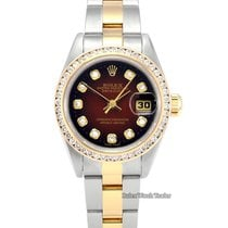 Rolex Lady-Datejust Χρυσός / Ατσάλι 26mm Μπορντό Xωρίς ψηφία