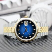 Rolex Datejust Zlato/Zeljezo 36mm Bez brojeva