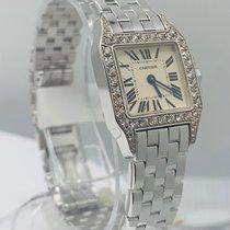 Cartier Белое золото Кварцевые Белый новые Santos Demoiselle