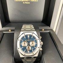 Audemars Piguet Royal Oak Chronograph occasion 41mm Bleu Chronographe Acier