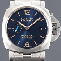 Panerai Luminor Marina Automatic Steel 42mm Blue Arabic numerals