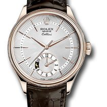 Rolex Cellini Dual Time Rose gold 39mm Silver United States of America, New York, NY