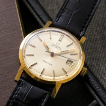 Omega Yellow gold Automatic Silver No numerals 35mm pre-owned Genève