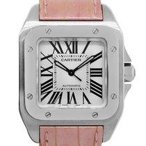 Cartier Santos 100 Steel 33mm White Roman numerals
