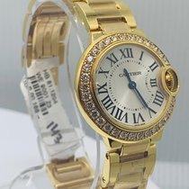 Cartier Ballon Bleu 28mm Желтое золото Cеребро