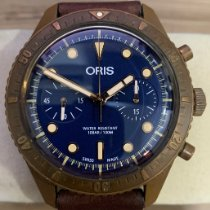 Oris Carl Brashear pre-owned 43mm Blue Chronograph Leather