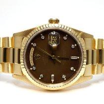 Rolex Day-Date 36 Yellow gold 36mm Brown No numerals United Kingdom, Essex