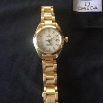 Omega Желтое золото Автоподзавод Белый 30mm подержанные Seamaster Aqua Terra