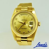 Rolex Day-Date 36 Yellow gold 36mm Gold Roman numerals United States of America, New York, Massapequa