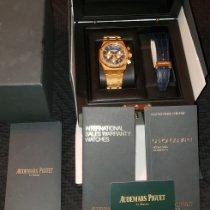 Audemars Piguet Royal Oak Chronograph Or jaune 41mm Bleu Sans chiffres