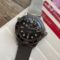 Omega Titanium Automatic Black No numerals 42mm pre-owned Seamaster Diver 300 M