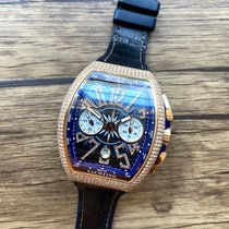 Franck Muller Vanguard Rose gold 44mm Blue