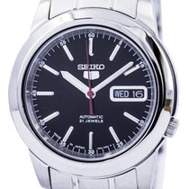 Seiko 5 Steel 38mm Black