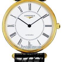 Longines Yellow gold Automatic White 34mm new La Grande Classique