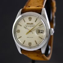 Rolex Air King Date Acero 34mm Plata Arábigos