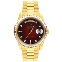 Rolex Day-Date 36 Or jaune 36mm Rouge