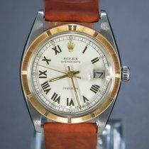 Rolex Oyster Precision Acero y oro 35mm Blanco Romanos