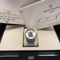Patek Philippe World Time Platyna 39.5mm Srebrny