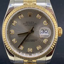 Rolex Datejust Or/Acier 36mm Gris Sans chiffres