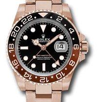 Rolex GMT-Master II Pозовое золото 40mm Чёрный