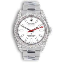 Rolex Milgauss Сталь 40mm Белый