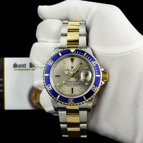 Rolex Silver Silver 40mm pre-owned Submariner Date