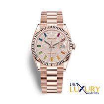 Rolex Day-Date 36 Or rose 36mm Sans chiffres