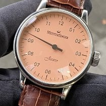 Meistersinger Steel Manual winding Pink Arabic numerals ca. 43mm pre-owned Scrypto