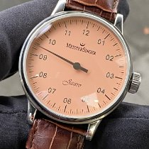 Meistersinger Scrypto pre-owned ca. 43mm Pink Leather