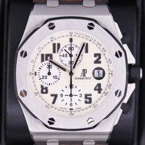 Audemars Piguet Steel Automatic White Arabic numerals 42mm pre-owned Royal Oak Offshore Chronograph