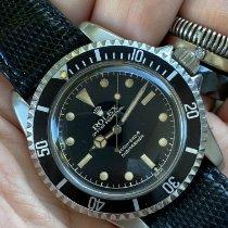 Rolex Submariner (No Date) Staal 40mm Zwart Geen cijfers