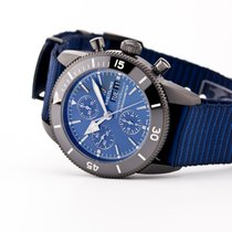 Breitling Superocean Héritage Chronograph pre-owned 44mm Blue Chronograph Date Textile
