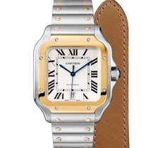 Cartier Santos (submodel) W2SA0006 New Gold/Steel 39.8mm Automatic