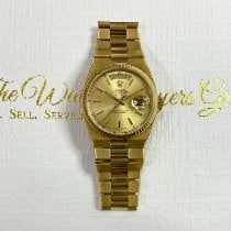 Rolex Day-Date Oysterquartz Geelgoud 36mm Champagne Geen cijfers