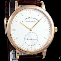 A. Lange & Söhne Rose gold Automatic Silver 40mm pre-owned Saxonia