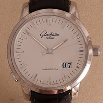 Glashütte Original Steel Automatic Silver No numerals 40mm pre-owned Senator Panorama Date