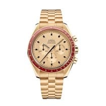 Omega 310.60.42.50.99.001 Yellow gold Speedmaster Professional Moonwatch 42mm new