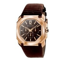 Bulgari Rose gold Automatic Brown new Octo