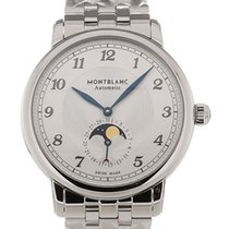 Montblanc new Automatic Display back Guilloché dial Tempered blue hands 42mm Sapphire crystal