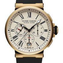 Ulysse Nardin Marine Chronograph Rose gold 43mm White