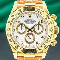Rolex Daytona Yellow gold 40mm White Arabic numerals