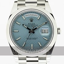 Rolex Day-Date 40 Platino 40mm Azul