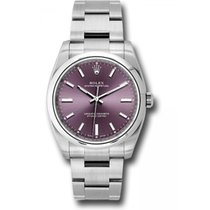 Rolex Oyster Perpetual 34 Acero 34mm Rojo