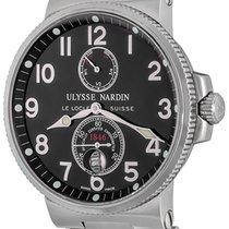 Ulysse Nardin Marine Chronometer 41mm Сталь 41mm Черный Aрабские