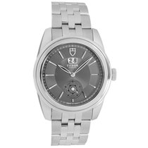 Tudor Glamour Double Date pre-owned 42mm Grey Date Year Steel