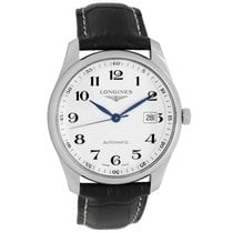 Longines Master Collection pre-owned 40mm Silver Date Leather