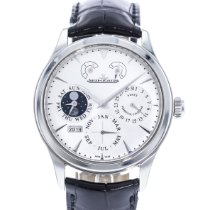 Jaeger-LeCoultre Master Eight Days Perpetual pre-owned 40mm Silver Leather